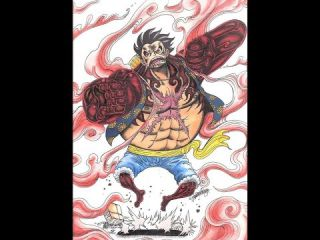 One Piece; Mon Dessin du Gear Fourth de Monkey D. Luffy.